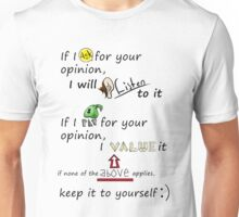 Your opinion- Cartoony Unisex T-Shirt