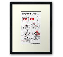 Riding with a Ghost - Diagrams & Lyrics ( no. 1) Framed Print