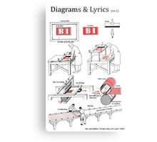 Riding with a Ghost - Diagrams & Lyrics ( no. 1) Metal Print