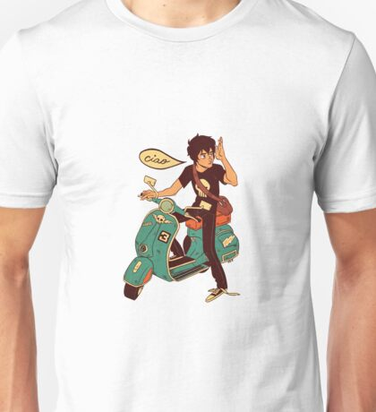 Nico di Angelo on a Vespa Ciao Unisex T-Shirt