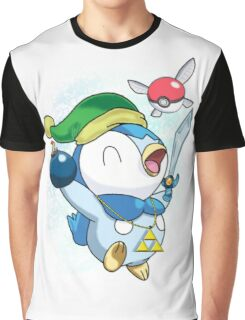 Pokemon Link Piplup Graphic T-Shirt