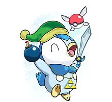 Pokemon Link Piplup Photographic Print