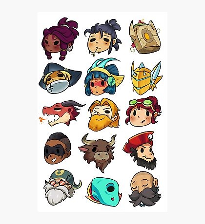 Brawlhalla Legends Set 1 of 2 Photographic Print