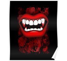 Vampire Red Bloody Mouth Poster
