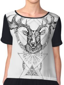 The Irish Deer Chiffon Top
