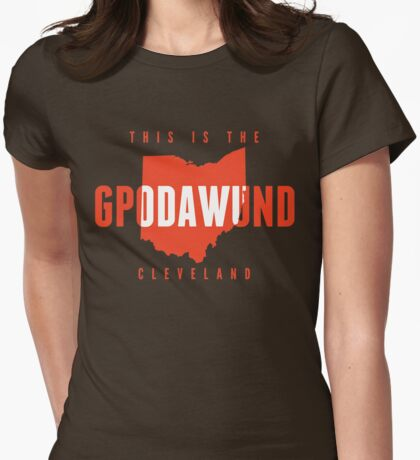 GPODAWUND State of Mind (Orange) Womens Fitted T-Shirt