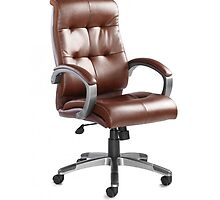 17% off on Managers Brown Leather Chair by atlantisofficee