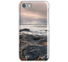black rocks on Ballybunion beach iPhone Case/Skin