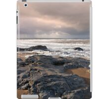 black rocks on Ballybunion beach iPad Case/Skin