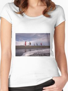 Beach soccer Women's Fitted Scoop T-Shirt