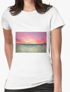 Pastel Sunrise III Womens Fitted T-Shirt