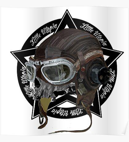 Skull Little Utopia Aviator  Poster