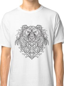 Bear with abstract floral ornament in boho style.  Classic T-Shirt