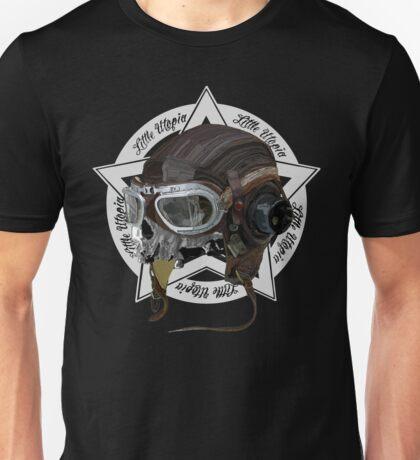 Skull Little Utopia Aviator w Unisex T-Shirt