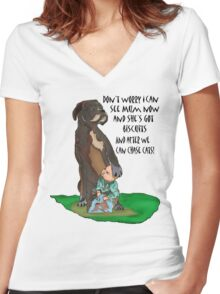 Billy Boxer and Son Women's Fitted V-Neck T-Shirt