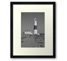 portland bill light house Framed Print