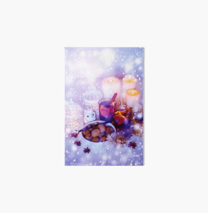Christmas Decorations with Mulled Wine and Snow Art Board
