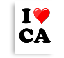 I Love CA Canvas Print
