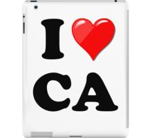 I Love CA iPad Case/Skin