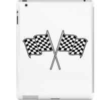 checkered flag iPad Case/Skin