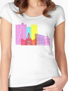 Fort Worth skyline pop Women's Fitted Scoop T-Shirt