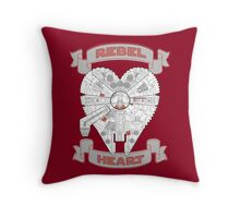 Rebel Heart - red Throw Pillow