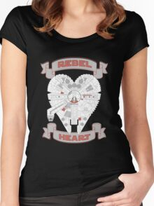 Rebel Heart - red Women's Fitted Scoop T-Shirt