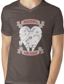 Rebel Heart - red Mens V-Neck T-Shirt