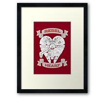 Rebel Heart - red Framed Print