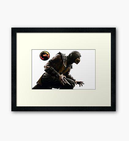 Mortal Kombat X - Scorpion Attack Framed Print