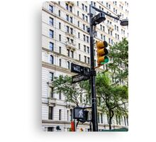 New York Traffic Lights & Signs at Wall Street / Broadway Junction Canvas Print
