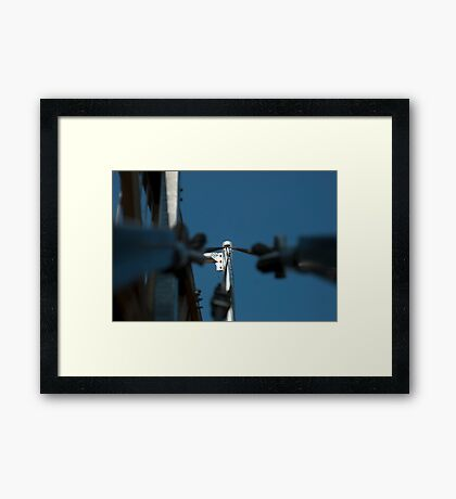 1136 Suspension Bridge Framed Print