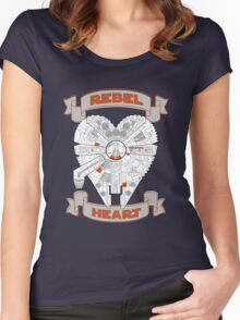 Rebel Heart - orange Women's Fitted Scoop T-Shirt