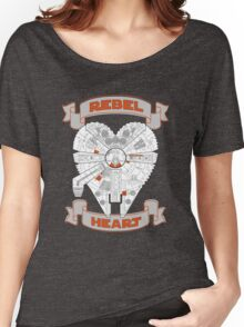 Rebel Heart - orange Women's Relaxed Fit T-Shirt
