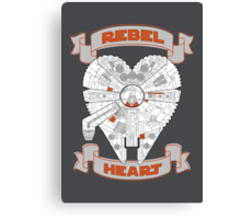 Rebel Heart - orange Canvas Print