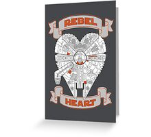 Rebel Heart - orange Greeting Card