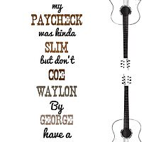 Country Music Birthday Card by Trailerparkman