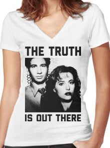 X-Files The Truth is out there Shirt Women's Fitted V-Neck T-Shirt
