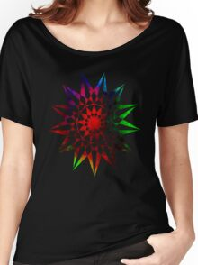 Colorful Geometric Abstract Vector Star Women's Relaxed Fit T-Shirt