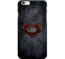"""The Letter O in the Style of """"Man of Steel"""" iPhone Case/Skin"""