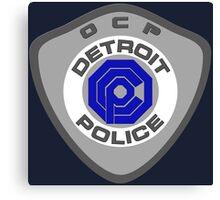 Robocop OCP Detroit Police insigna Canvas Print