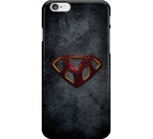"""The Letter M in the Style of """"Man of Steel"""" iPhone Case/Skin"""