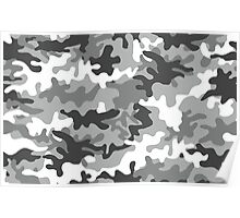 Grayscale Camo Poster