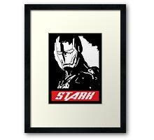 Obey Stark Framed Print