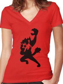 Litten Evolution Women's Fitted V-Neck T-Shirt