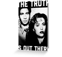 X-Files The Truth is out there Black Shirt Greeting Card