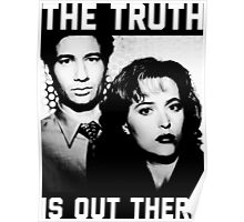 X-Files The Truth is out there Black Shirt Poster
