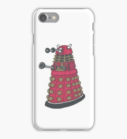 Red Dalek iPhone Case/Skin