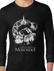 Studio Ghibli Mononoke Hime Black Shirt Long Sleeve T-Shirt