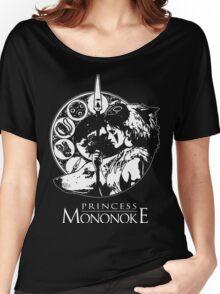 Studio Ghibli Mononoke Hime Black Shirt Women's Relaxed Fit T-Shirt
